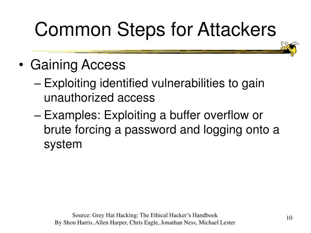 Common Steps for Attackers