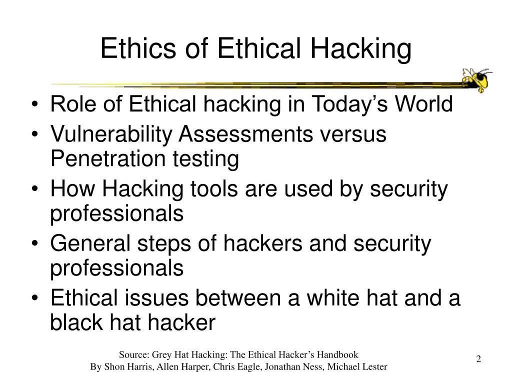 Ethics of Ethical Hacking
