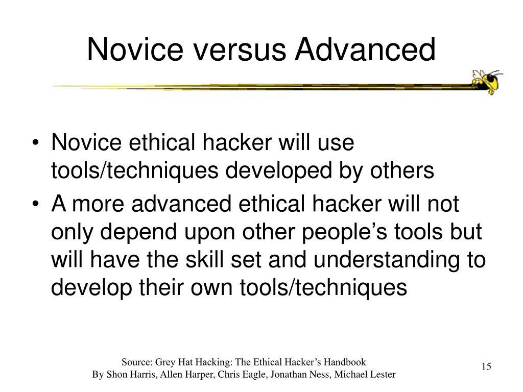 Novice versus Advanced