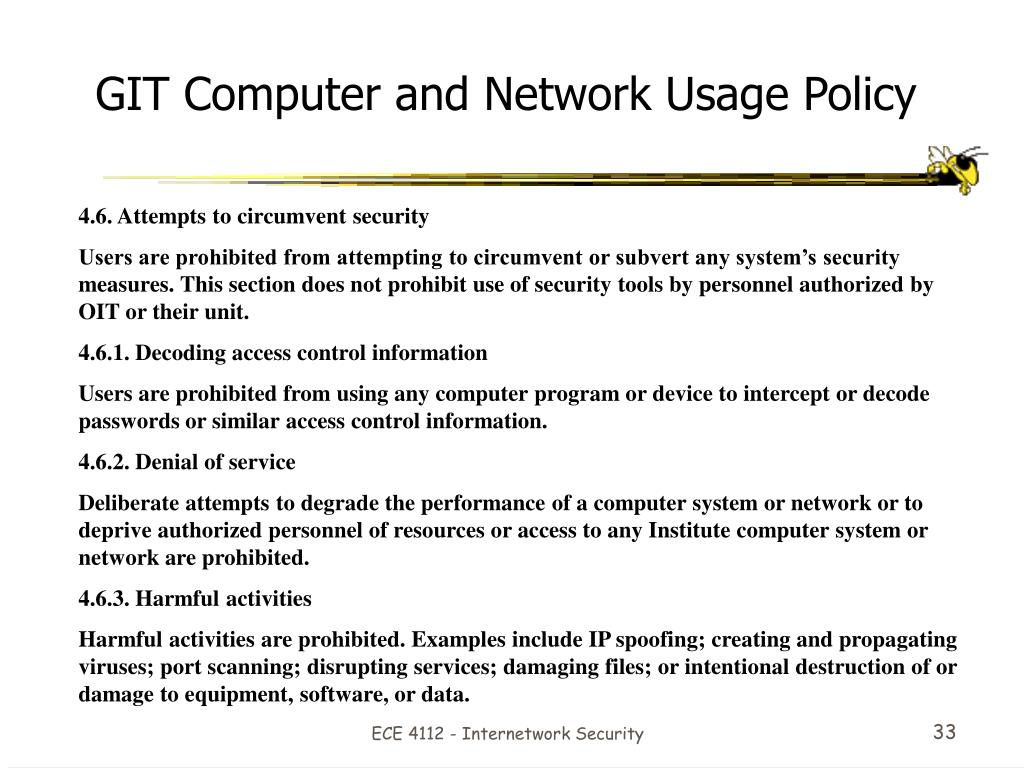 GIT Computer and Network Usage Policy