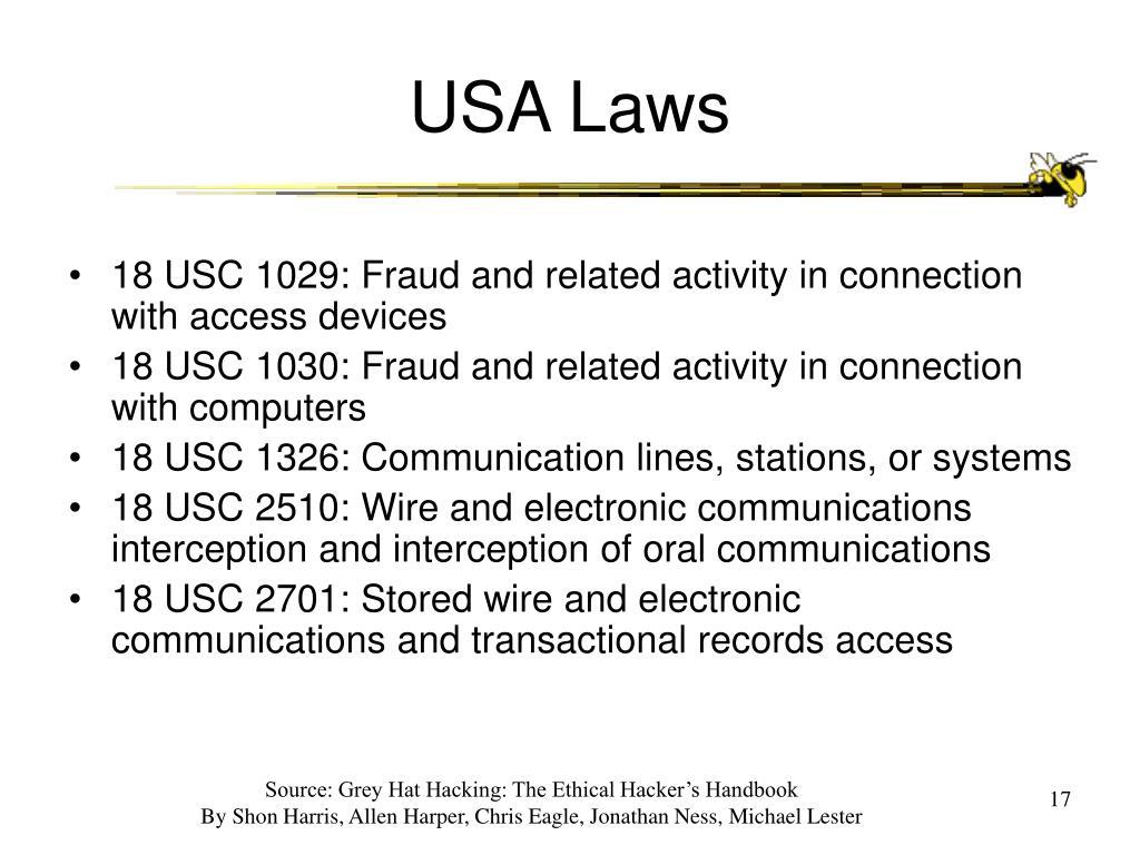 USA Laws