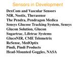 sensors in development