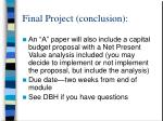 final project conclusion