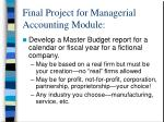final project for managerial accounting module