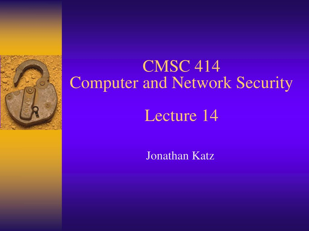 cmsc 414 computer and network security lecture 14 l.
