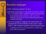 security manager