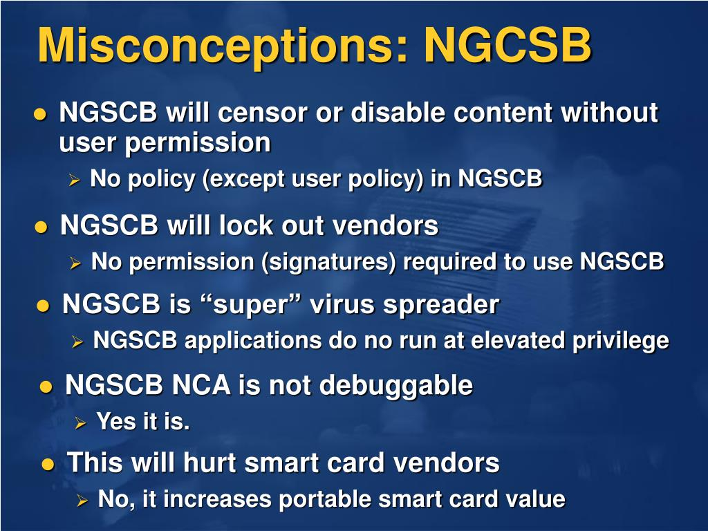 Misconceptions: NGCSB