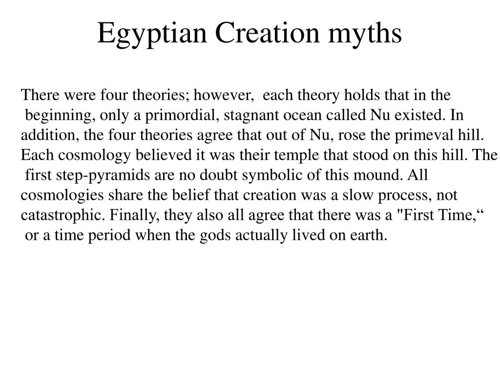 egyptian creation myths l.