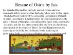 rescue of osiris by isis