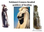 sekhmet lioness headed goddess of healing