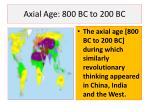 axial age 800 bc to 200 bc