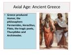 axial age ancient greece