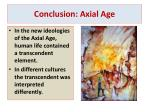 conclusion axial age