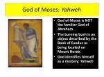 god of moses yahweh