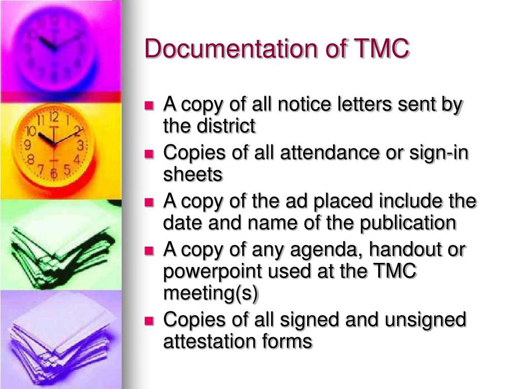 Documentation of TMC
