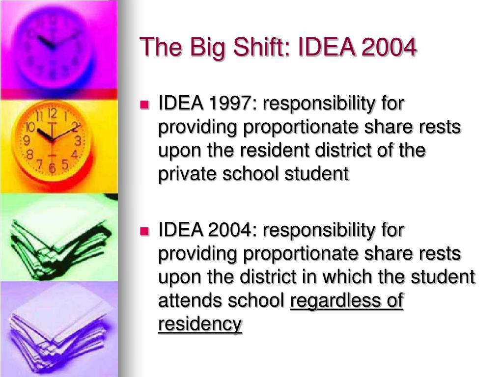 The Big Shift: IDEA 2004