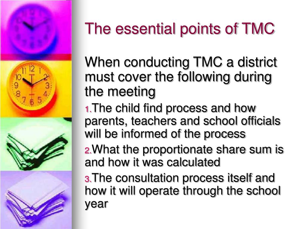 The essential points of TMC
