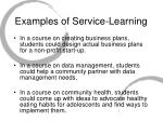 examples of service learning