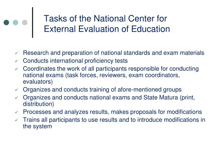 selecting an external evaluator or evaluation Chapter six: selecting an evaluator  on the fact that an evaluator can either be external or  unable to conduct an objective evaluation indeed, the evaluator.
