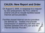 calea new report and order