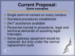 current proposal some examples