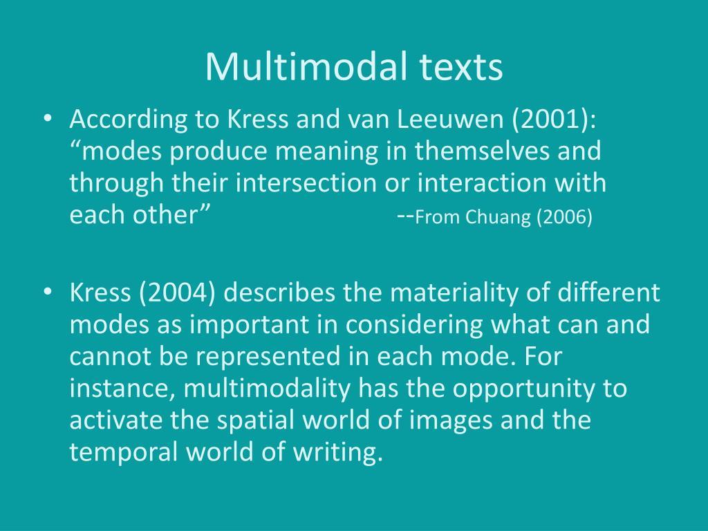 Multimodal texts