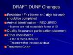 draft dunf changes