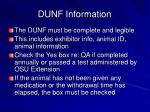 dunf information