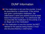 dunf information17