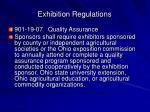 exhibition regulations