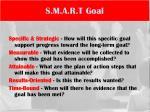 s m a r t goal