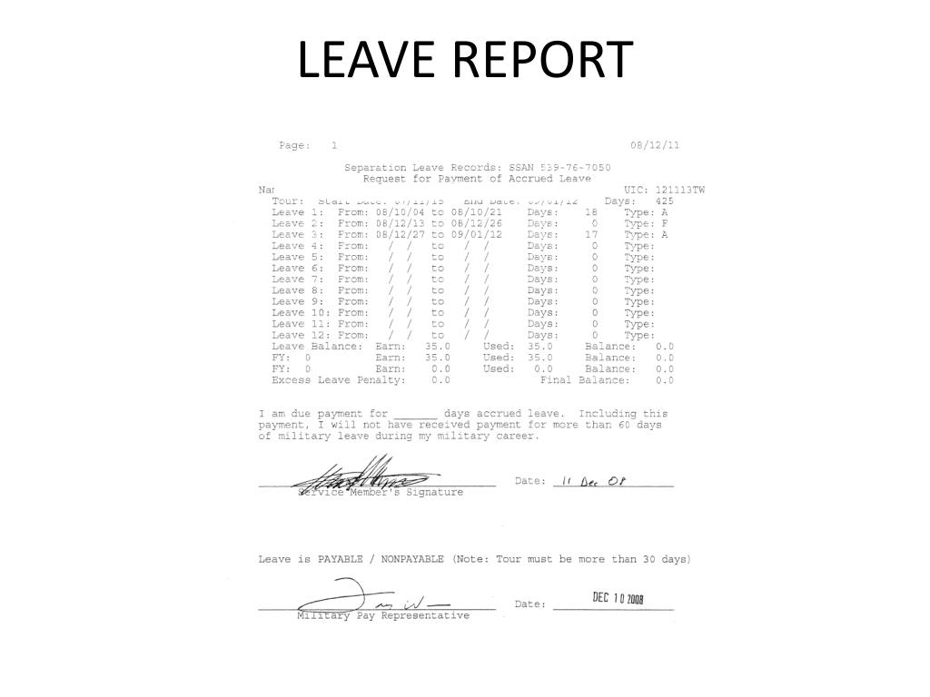 LEAVE REPORT