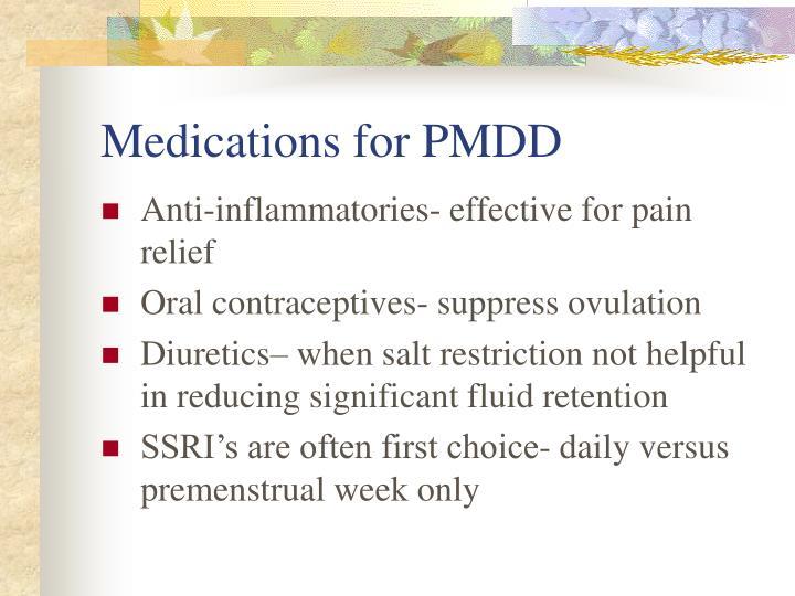 Medications for PMDD