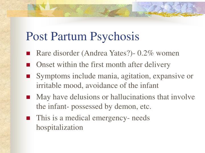 Post Partum Psychosis