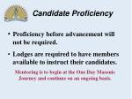 candidate proficiency