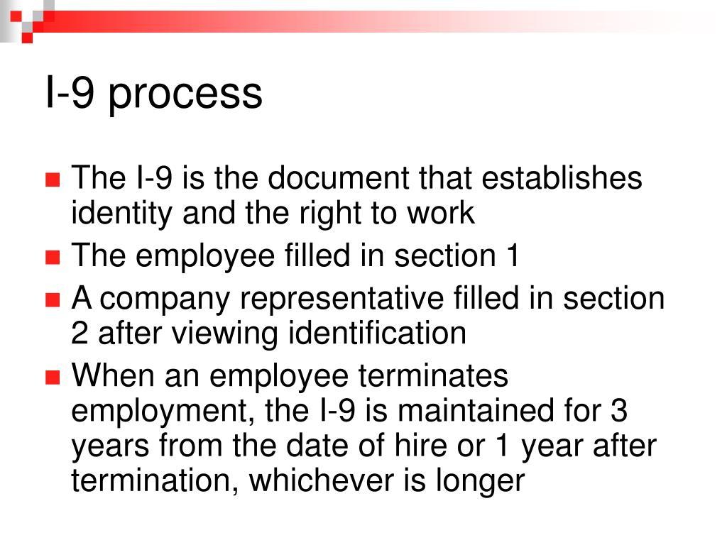 I-9 process