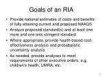 goals of an ria