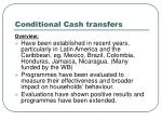 conditional cash transfers9
