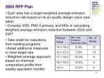 2006 rfp plan