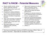 ract racm potential measures
