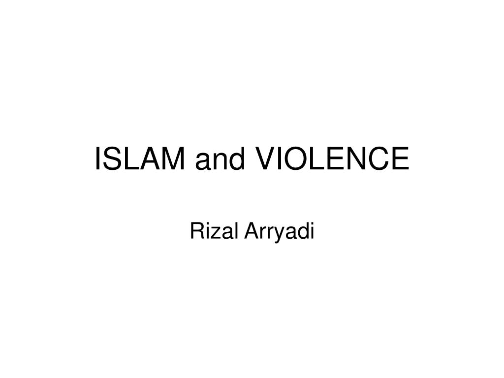 islam and violence l.