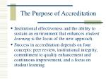 the purpose of accreditation4