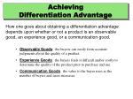 achieving differentiation advantage