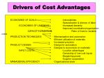 drivers of cost advantages