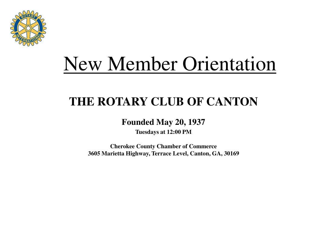 new member orientation l.