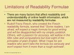 limitations of readability formulae