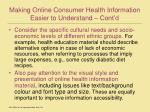 making online consumer health information easier to understand cont d26