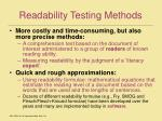 readability testing methods