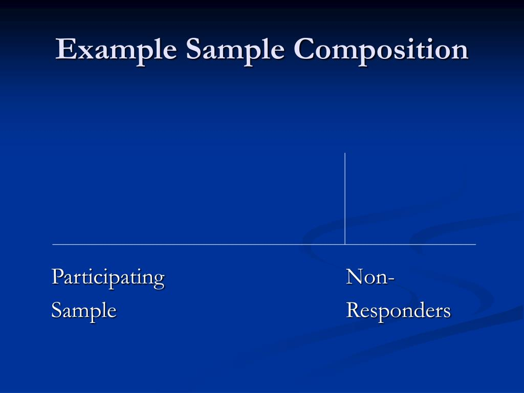 Example Sample Composition