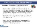 international trade transactions 1